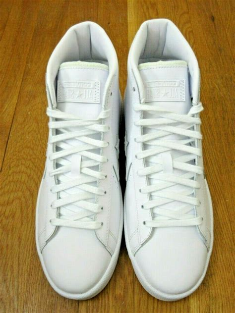 converse mens pl  mid leather basketball shoes