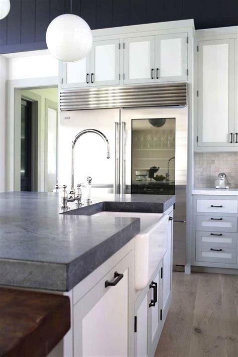 kitchens  white counters  light gray soapstone