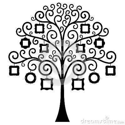 vector family tree template stock vector image