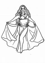 Belly Dancer Coloring Lacychenault sketch template