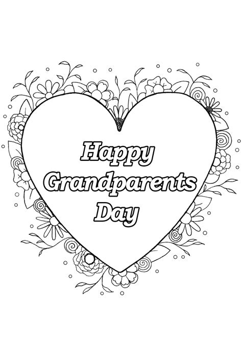 grandparents day  grparents day adult coloring pages