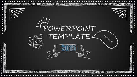 chalkboard cartoon style powerpoint template