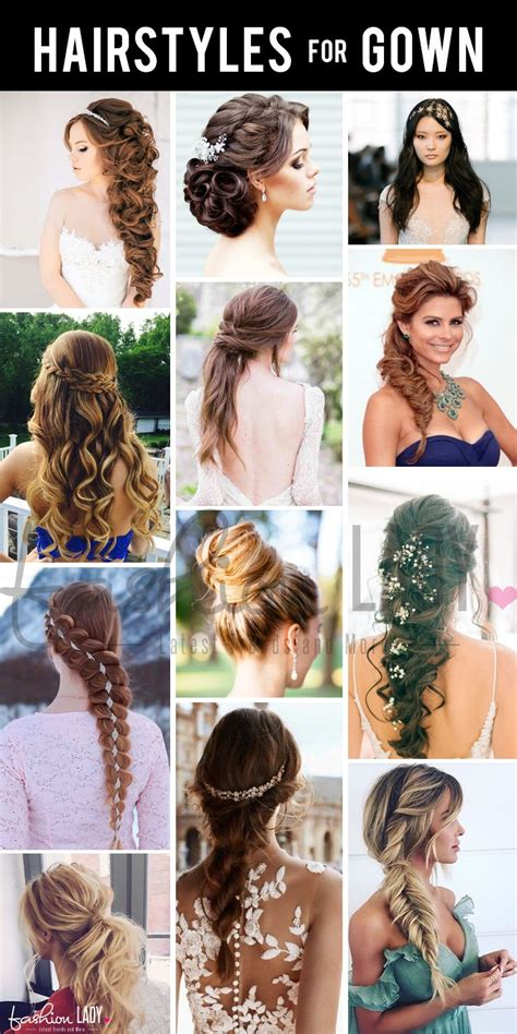 flamboyant hairstyles  gown  adorn hairstyles