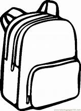 Clipart Outline Backpack Bags Coloring Backpacks Colorful Supplies Webstockreview sketch template