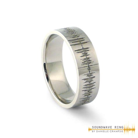 Custom Soundwave Ring Sterling Silver  Soundwave Jewellery. Unisex Engagement Rings. Famous Big Wedding Rings. Jeweled Wedding Rings. Budget Wedding Engagement Rings. 15k Wedding Rings. Knitted Rings. Samoan Wedding Rings. Meghan Engagement Rings