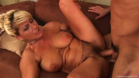 Blonde Mature Trollop Berna Gets Banged By A Guy Of Half