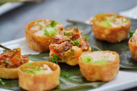 images of canapes caribbean canapé menu by caribbean cook pot catering