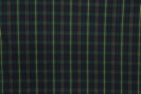 tartan plaid fabric green navy yellow the fabric mill