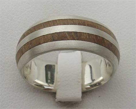 s silver wooden wedding ring love2have in the uk