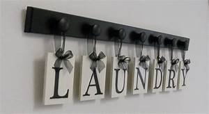 Laundry room sign wall decor personalized hanging letters