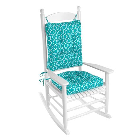 klear vu outdoor 2 piece porch rocking chair cushion set