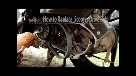 How To Replace Scooter Drive Belt Youtube