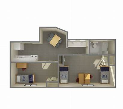 University Apartments Fiu Bedroom Person Shared Campus