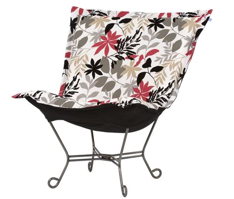chicago textile puff chair zen