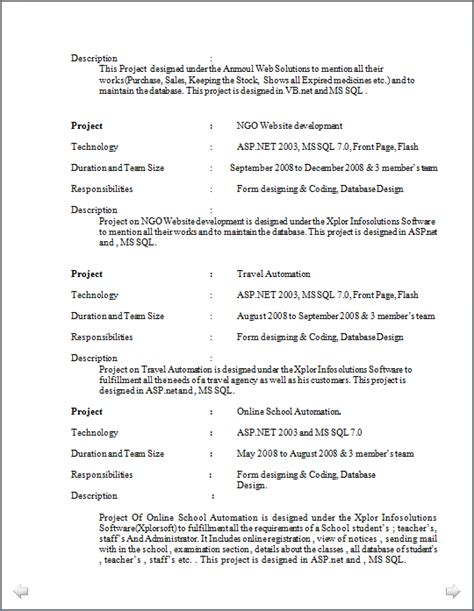 professional resume excellent resume sle of