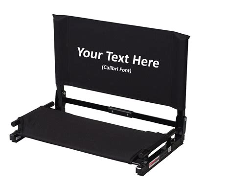 stadium chairs for bleachers personalized imprinted personalized new deluxe wide stadium chair