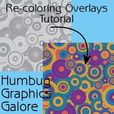 Coloring Overlays by Humbug Graphics Galore Coloring A Jpeg Overlay