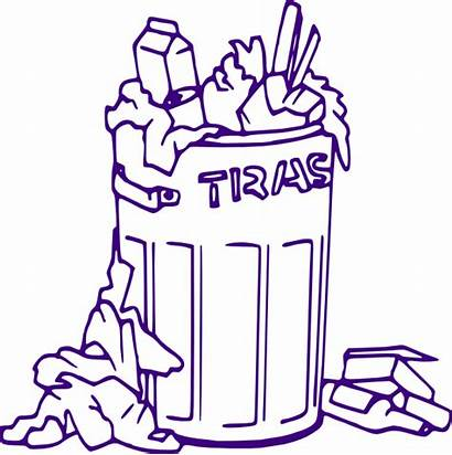 Rubbish Clipart Bin Litter Trash Clip Littering