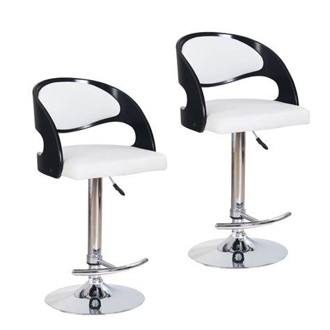 darty siege chaise de bar noir et blanc cuisine en image
