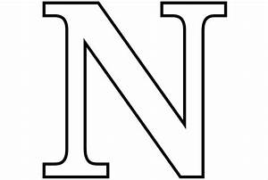 letter n coloring pages to download and print for free With big letter n