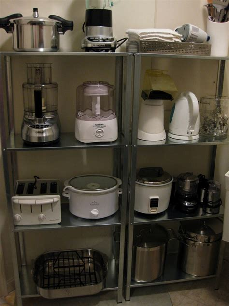 small kitchen appliance storage キッチンの調理器具の収納用棚 住宅デザイン 5409