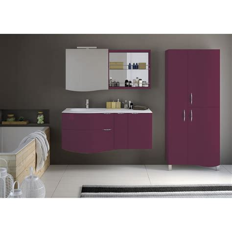 meuble de salle de bains plus de 120 rose violet