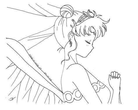 Sailor Moon Title Coloring Page