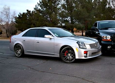 silver cadillac cts with black rims google search