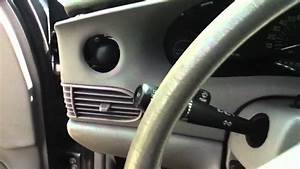 Removing Front Dash - 2005 Buick Century