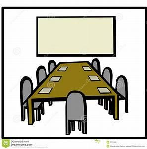 Business Meeting Room Vector Illustration Stock Vector