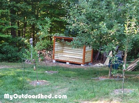 cord firewood shed myoutdoorplans  woodworking