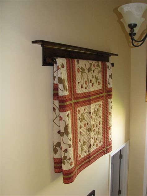wall hanging quilt rack  shelf  doug wilson