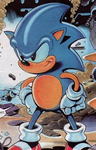 sonic  hedgehog canon fleetway comicsmaverick
