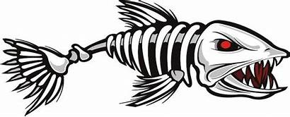 Fish Badass Skull Decal Fishing Skeleton Walleye