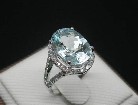 items similar  engagement ring  carat aquamarine ring  diamonds   white gold  etsy