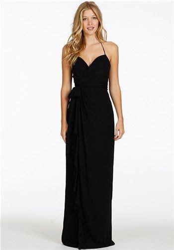 black chiffon wrap bridesmaid dress halter neckline