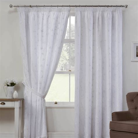 como linen look voile curtains in white free uk delivery
