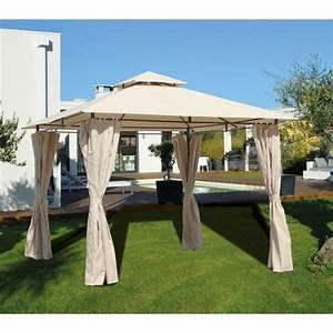 Tonnelle De Jardin 3x3 : palma tonnelle 3x3 m en acier et polyester 250 gr achat ~ Nature-et-papiers.com Idées de Décoration