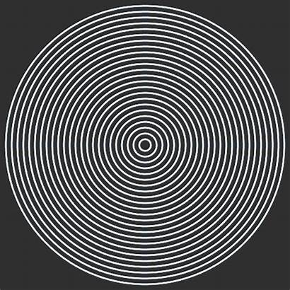 Circle Gifs Cool Geometry Giphy Optical Illusions