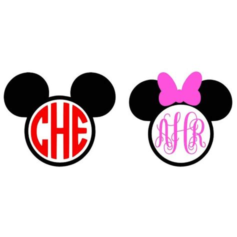 minnie mouse monogram mickey mouse monogram svg minnie mouse by ltcreativedesigns