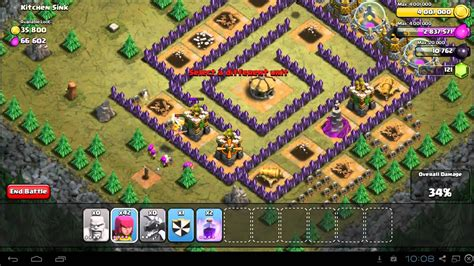 kitchen sink coc clash of clans kitchen sink 3 caign guide th7 2627