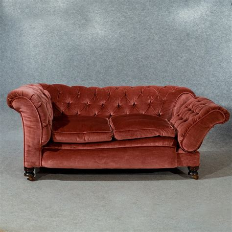 Chesterfield Settee by Antique Chesterfield Settee Period