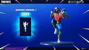 NEW QuotZANYquot Dance Emote Showcased With 44 Skins Fortnite
