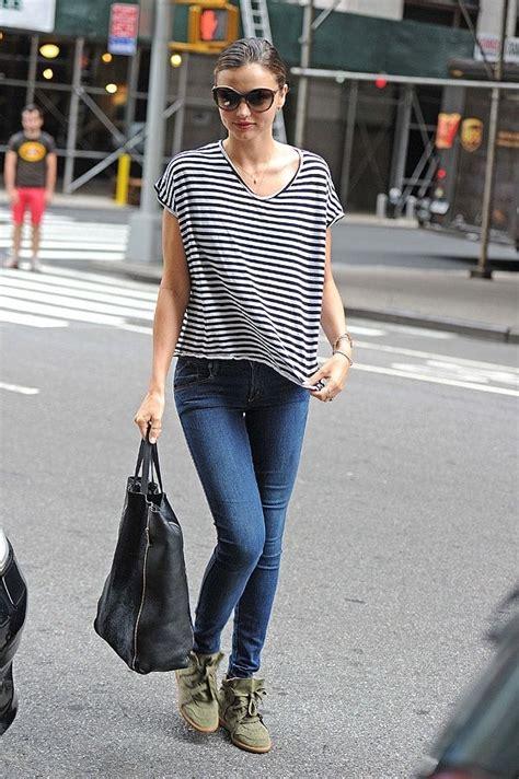 miranda kerr  celebrities wearing  striped  shirt
