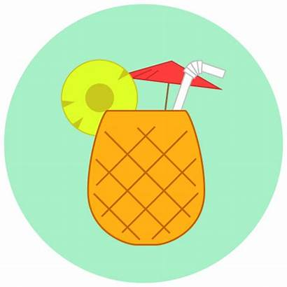 Summer Icon Icons Beach Clipart Juice Pineapple