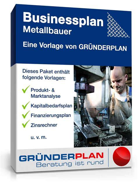 businessplan metallbauer von gruenderplan muster zum