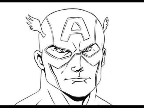 How to Draw Easy Captain America Drawings