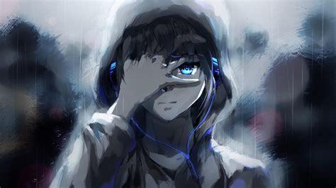 Anime Boy Wallpaper 1920x1080 - 1920x1080 anime boy hoodie blue