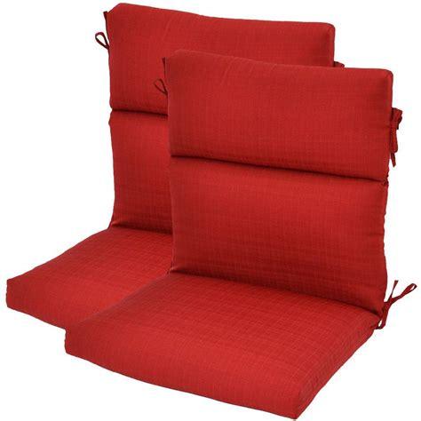 High Back Patio Chair Cushions by Hton Bay Geranium Textured High Back Outdoor Chair