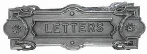 cast iron letter slot combines security and vintage styling With security iron on letters